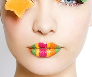 candy, editorial, and rainbow eyes image