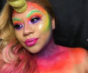bright colours, face paint, and Halloween image