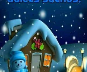christmas, good night, and saludos image