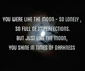 meaningful, moon, and quote image