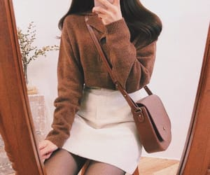 brown, sweater, and ootd image