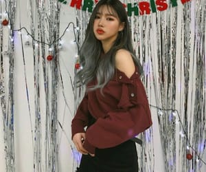 asian, christmas, and female image