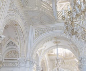 architecture, gold, and white image