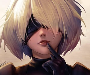 female model, 9s, and 2b image