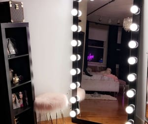 bedroom decor, vanity mirror, and home image