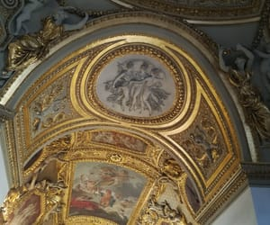 france, frescoes, and gold image