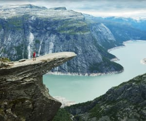 clouds, trolltunga, and fjord image