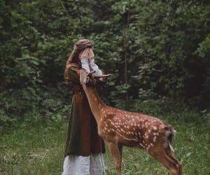 deer, girl, and cute image