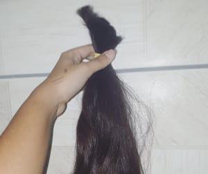 black hair, hair, and hair cut image