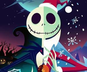 the nightmare before christmas, christmas, and jack image
