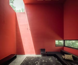architecture and red image