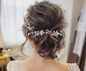 wedding, hair, and hairstyle image
