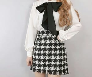 black, korean style, and bow image