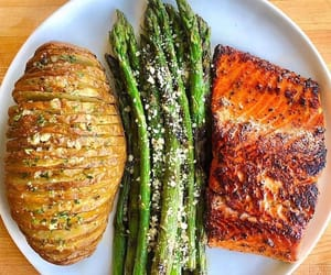 asparagus, healthy, and lunch image