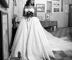 black and white, bride, and happy image