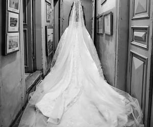 black and white, style, and bride image