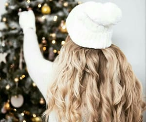 christmas, girl, and lights image