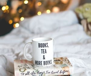 book, tea, and christmas image