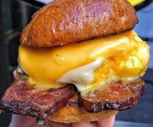 bacon, breakfast, and cheese image