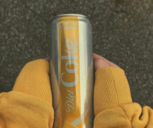 yellow, aesthetic, and coke image