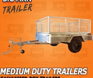 hydraulic tipping trailer image