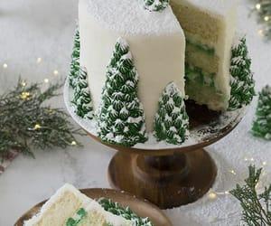 birthday cake, snow, and cake image