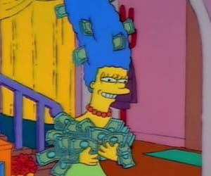 marge, money, and the simpsons image