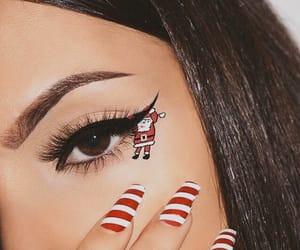 christmas, makeup, and nails image