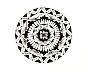 art, dot work, and black image