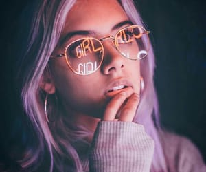 girl, aesthetic, and purple image