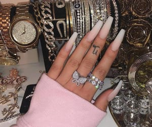 nails, jewelry, and luxury image