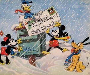 disney, christmas, and mickey mouse image
