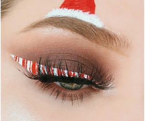 aesthetic, soft, and christmas make-up image