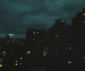city, dark, and lights image