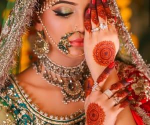 henna, mehndi, and nose ring image