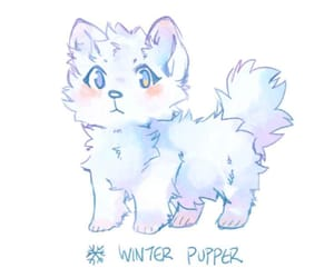 dog, winter, and webtoon image