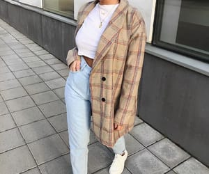 casual, white, and coat image