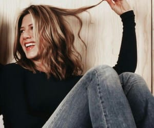 Jennifer Aniston, hair, and happy image