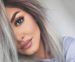 eyebrows, girl, and fashion image