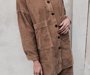 brown, button up, and chic image