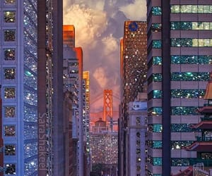art, city, and clouds image