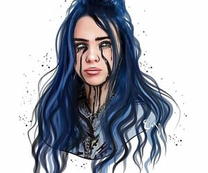 art, billie, and billie eilish image