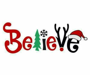 christmas and believe image