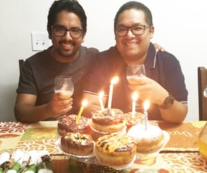brother, doughnuts, and happy birthday image