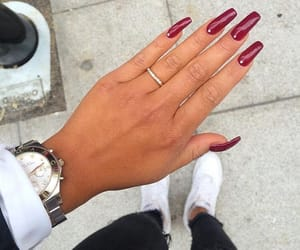 beauty, photography, and red nails image