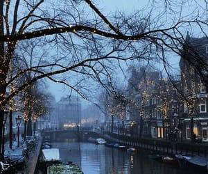 amsterdam, boats, and christmas image