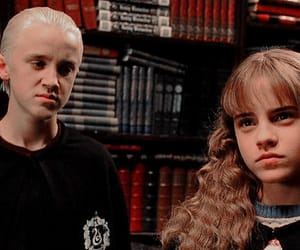 draco malfoy, hermione granger, and harry potter image