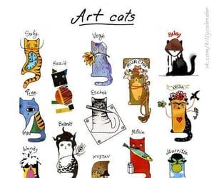 cat, art, and artist image