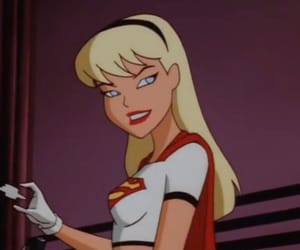 aesthetic, cartoon, and Supergirl image