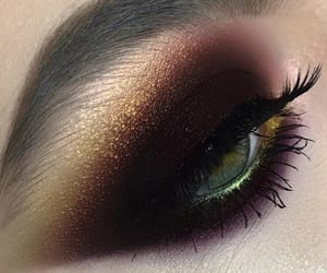 black, dark, and eyeshadow image